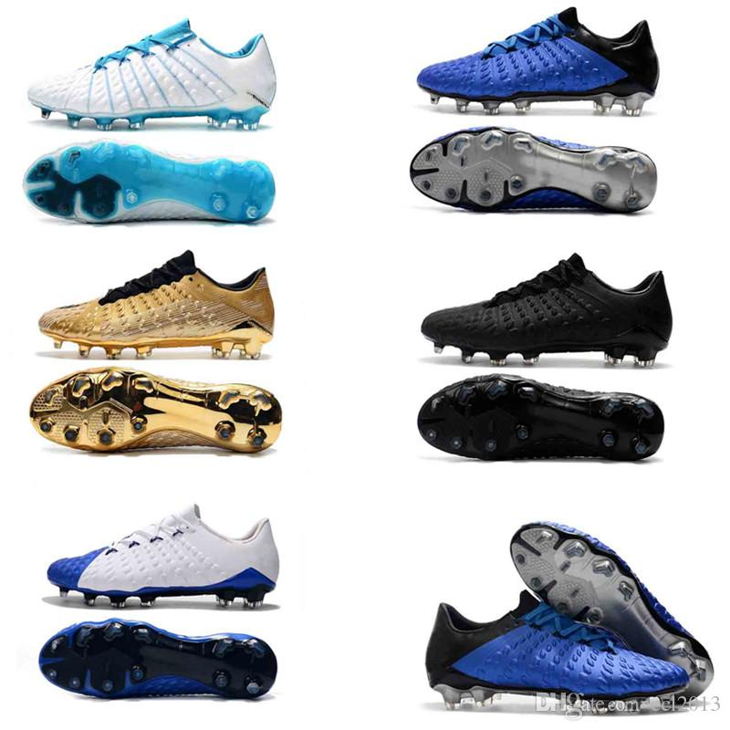 huge selection of 0ad75 89645 2019 Soccer Shoes Hypervenom Phantom III DF FG 3D Outdoor Soccer Cleats  Trainers Football Boost FG Mens High End Football Boots Size 39 45 From  Ccl2013, ...