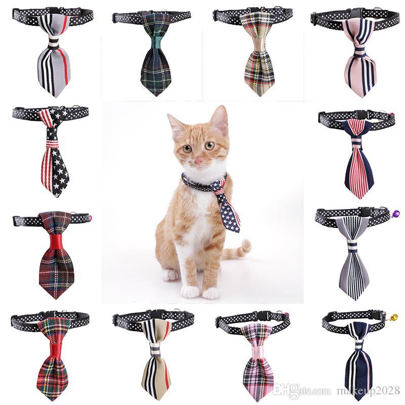 prix bas nouveau style et luxe usine authentique Nouveau réglable cravate chien chat chat en peluche chiot animal toilettage  noeud papillon cravate vêtements cravate de parti 618