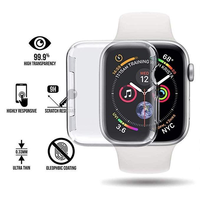 ede53beb396 Compre Silicone Macio Case Para Apple Watch Series 4 44mm 40mm Tpu Casos  Protetor Para Iwatch Tampa Panorâmica Ultra Fina E Clara Quadro De  Tradeuniverse