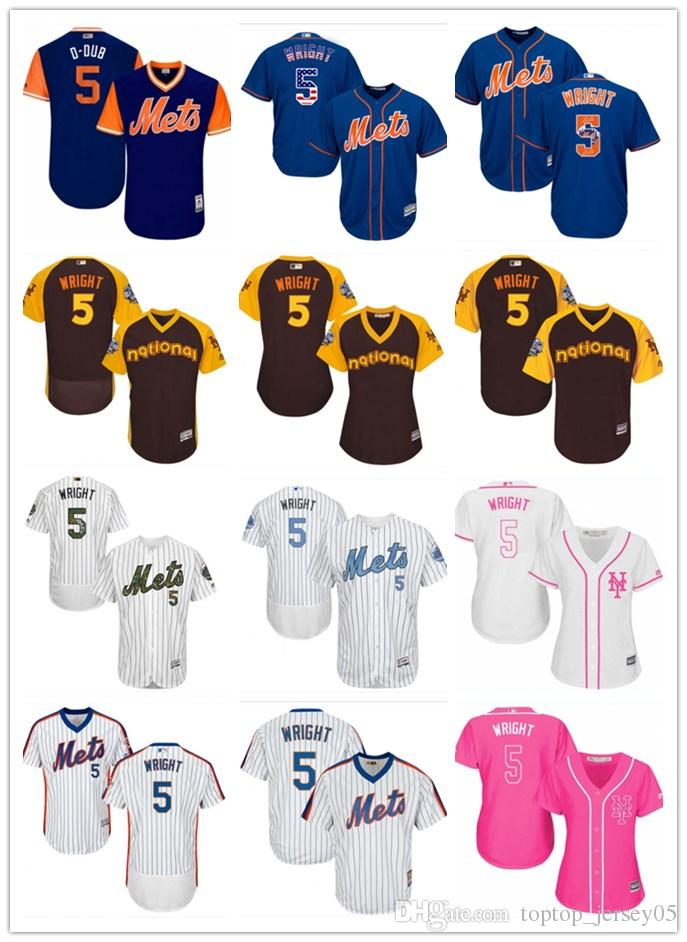 8c32bcfeb2d 2019 2018 Top New York Mets Jerseys  5 David Wright Jerseys Men WOMEN YOUTH Men S  Baseball Jersey Majestic Stitched Professional Sportswear From ...