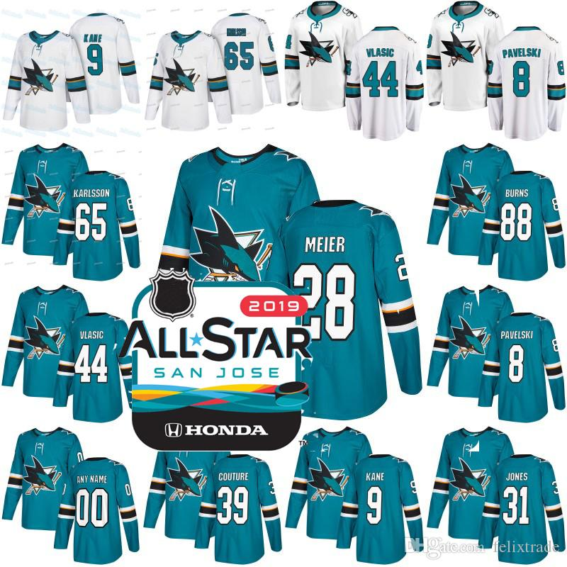 419696a132f ... reduced 2019 all star patch san jose sharks 28 timo meier 44 marc  edouard vlasic 31