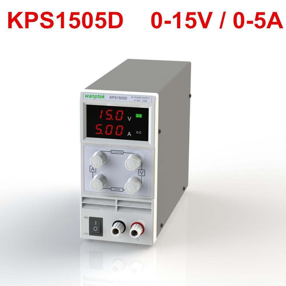 0-15V 0~5A Mini DC Power Supply Precision Variable Adjustable AC 110V/220V 50/60Hz Switching Display 3 Digits LED