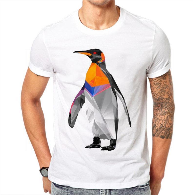 672f9b4f1 100% Cotton T Shirt Summer Men Short Sleeve Penguin 3d Print Shirt Slim Fit  Male T Shirts Plus Size 4xl Fashion Boy Clothes Random Funny T Shirts  Clever ...