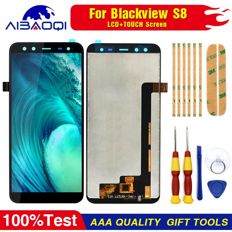 100% Original Blackview S8 LCD Display + Touch Screen Assembly For Blackview S8 Tools+3M