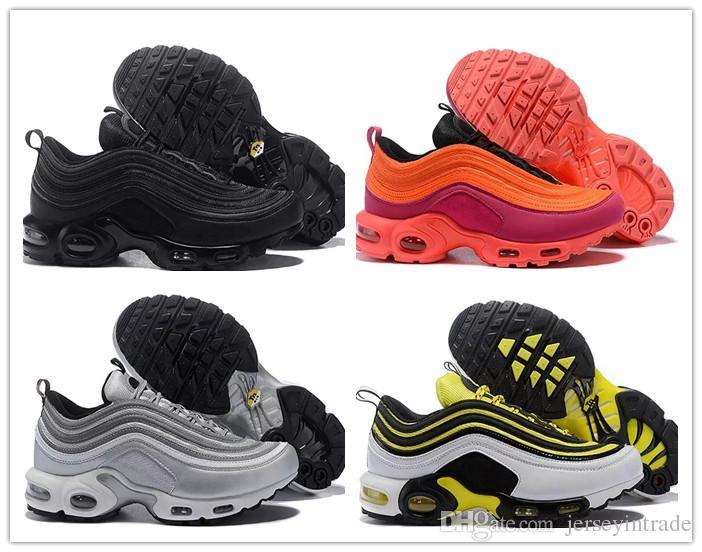 162729c15870e Acheter Nouveau Chaussures Hommes 97 Plus Tn Designer Chaussures Chaussures  Homme 97 Plus Chaussures De Sport Zapatiallas Hombre Tns Airs Cushion Run  Shoe ...