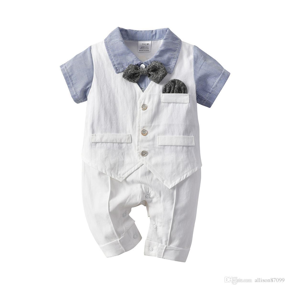 d3d1d03b6013 Vest Bow Baby Boy Cute Grey