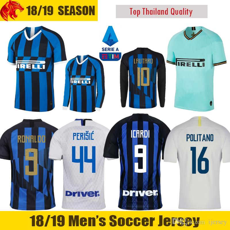 brand new 79c3a ed685 19 20 ICARDI Soccer Jerseys INter KEITA BALDE 2019 2020 LAUTARO Football  Shirt Milan 20th anniversary RONALDO PERISIC POLITANO Jersey
