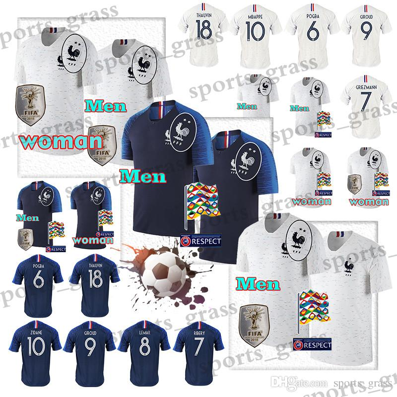 free shipping 92651 997d1 GRIEZMANN #7 MBAPPE #10 POGBA #6 World Cup Soccer Jersey DEMBELE #11 PAYET  #13 GIROUD #8 KANTE #9 football uniforms Stitched