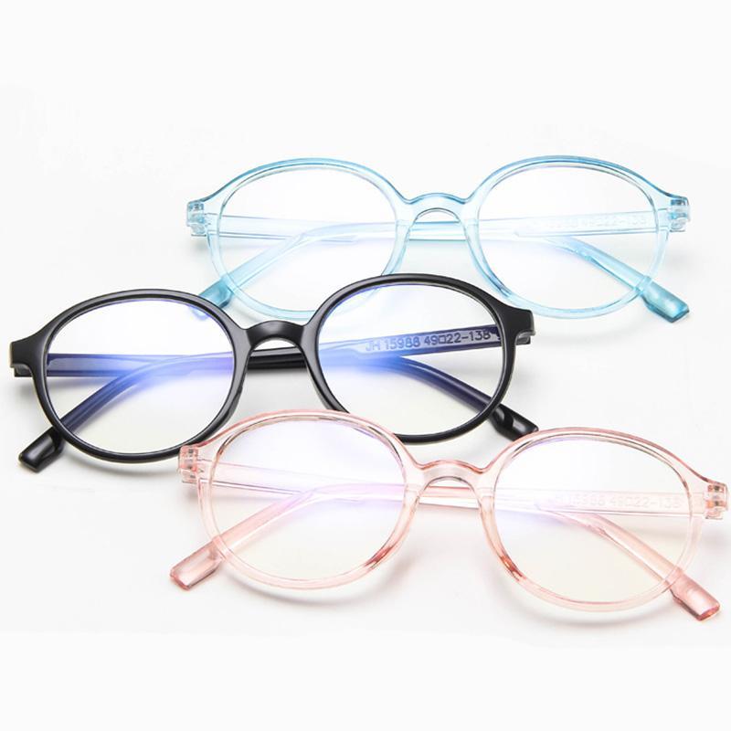 3e44eaec3 Compre 2019 Moda Óculos Mulheres Homens Rodada Do Vintage Óculos Claros  Ópticos Óculos De Armação De Lente Transparente Espetáculo Quadro Unisex De  ...