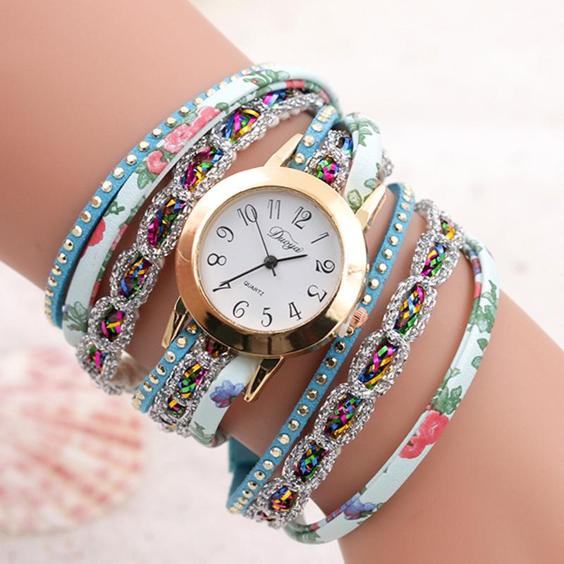 Belt Rivet Winding Rope Bracelet Women Watches Jewelry Hand-woven Fashion Quartz Ladies Wrist Watches Girl Relojes Para Mujer