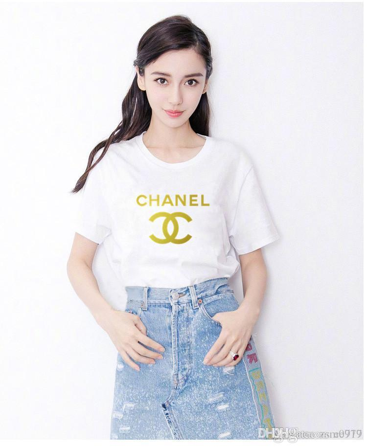432788358c311d New Summer Women Tees T Shirt Tops Sequin Embroidered Round Neck ...
