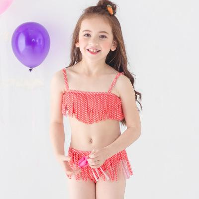 Kids Two Pieces Swimsuit 2018 New Summer Kids Baby Girl Bikini Set Tankini Swimwear Swimsuit Bathing Suit Children Swim Costume