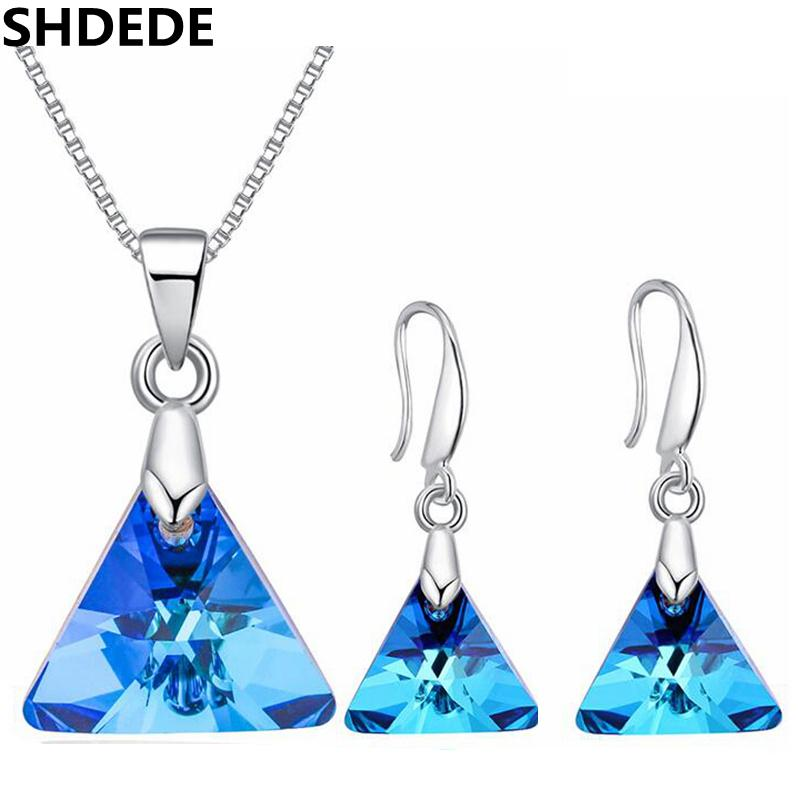 wholesale Fashion Accessories Crystal from Swarovski Exquisite Necklaces Earrings Women Brides Classic Wedding Jewelry Sets -27396