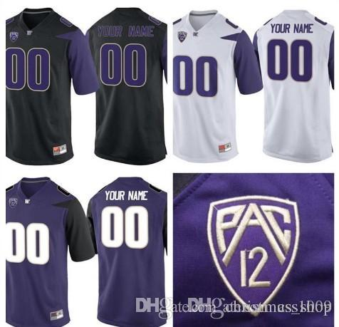 the best attitude 72210 6fbae Custom Mens Washington Huskies College Football Limited Black Purple White  Personalized Stitched Any Name Number #3 #1 #28 #88 Jerseys