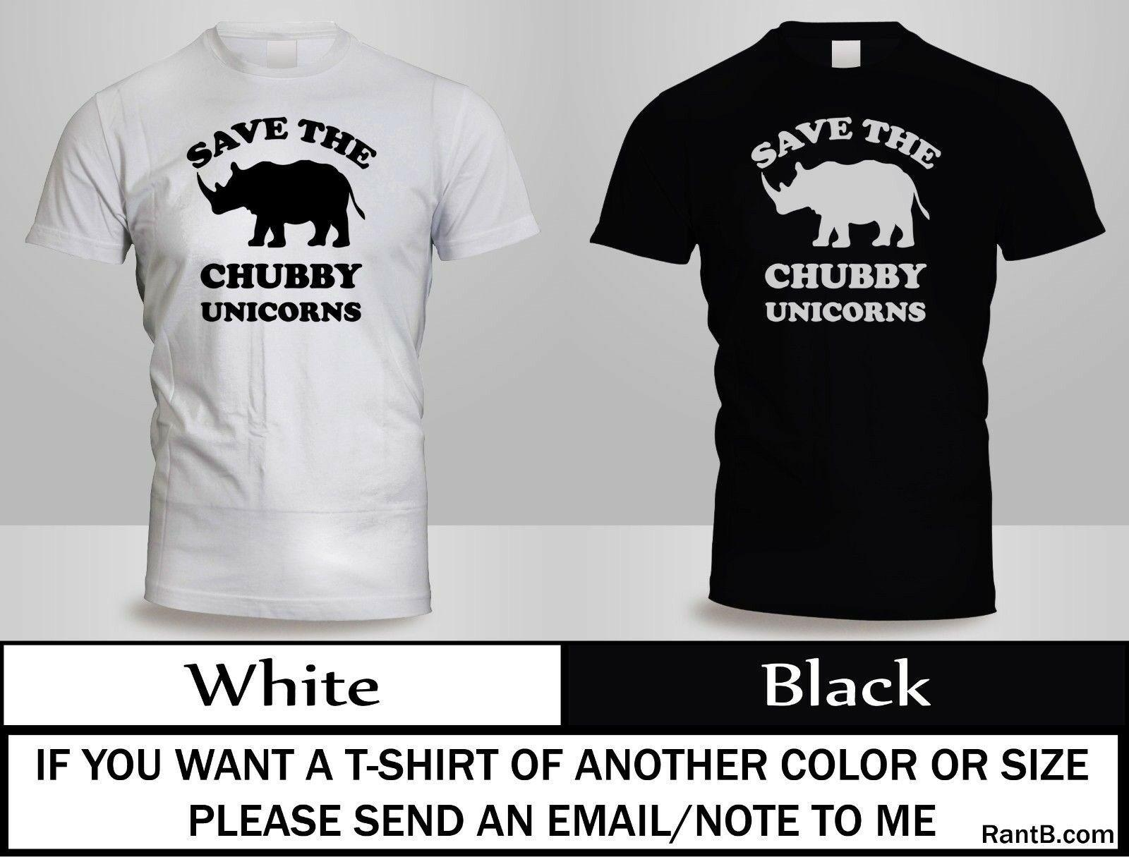 aae58068 NEW SAVE THE CHUBBY UNICORNS T SHIRT HIPSTER RHINO MENS BLACK&WHITE SHIRT 2  Funny Unisex Casual Awesome T Shirts Designs Cool Funny Shirts From ...