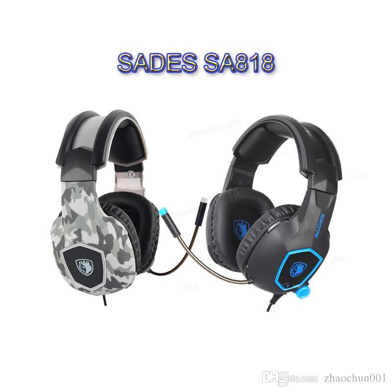 fe7214f3258 Compre 2019 SADES SA818 Auriculares Para Juegos De Computadora Auriculares  Para PC Gamer Para PS4 Nuevo Xbox One Controlador Portátil Para Teléfono  Móvil ...
