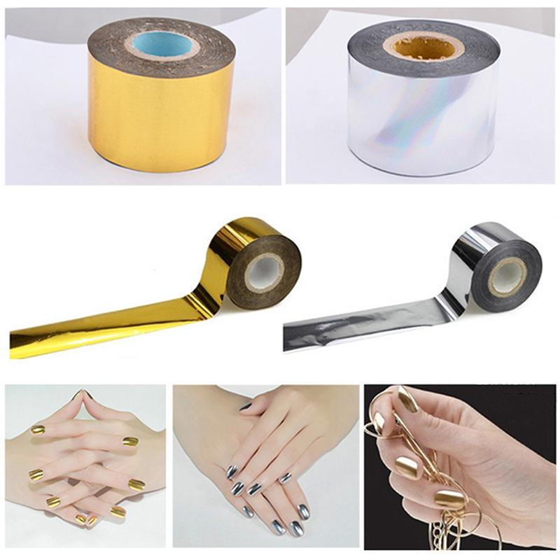 2019 Hot Sale 1PC New Creative Design Gold / Silver Starry Sky Nail Tape 4 Cm * 120 M Nail Art Silver Transfer Sticker