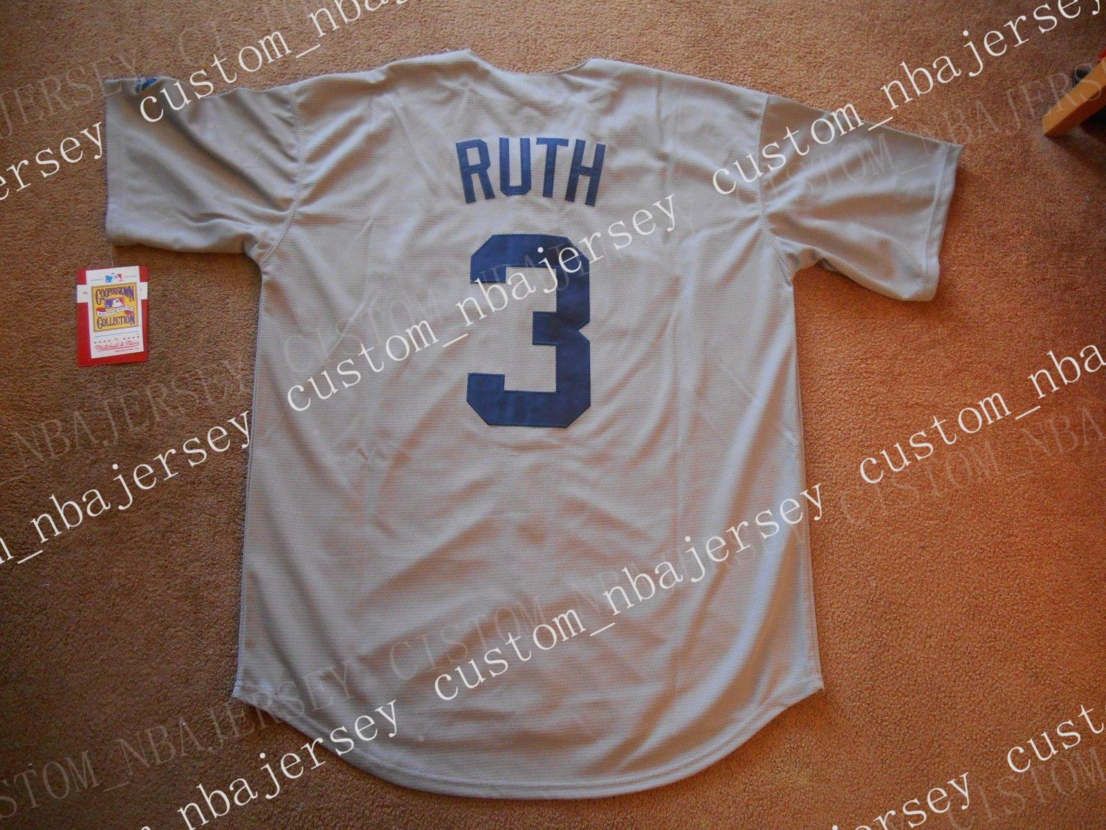 low priced 3f2c3 b3ed5 Cheap custom Babe Ruth #3 Baseball Jersey Stitched Customize any name  number MEN WOMEN YOUTH Jerseys