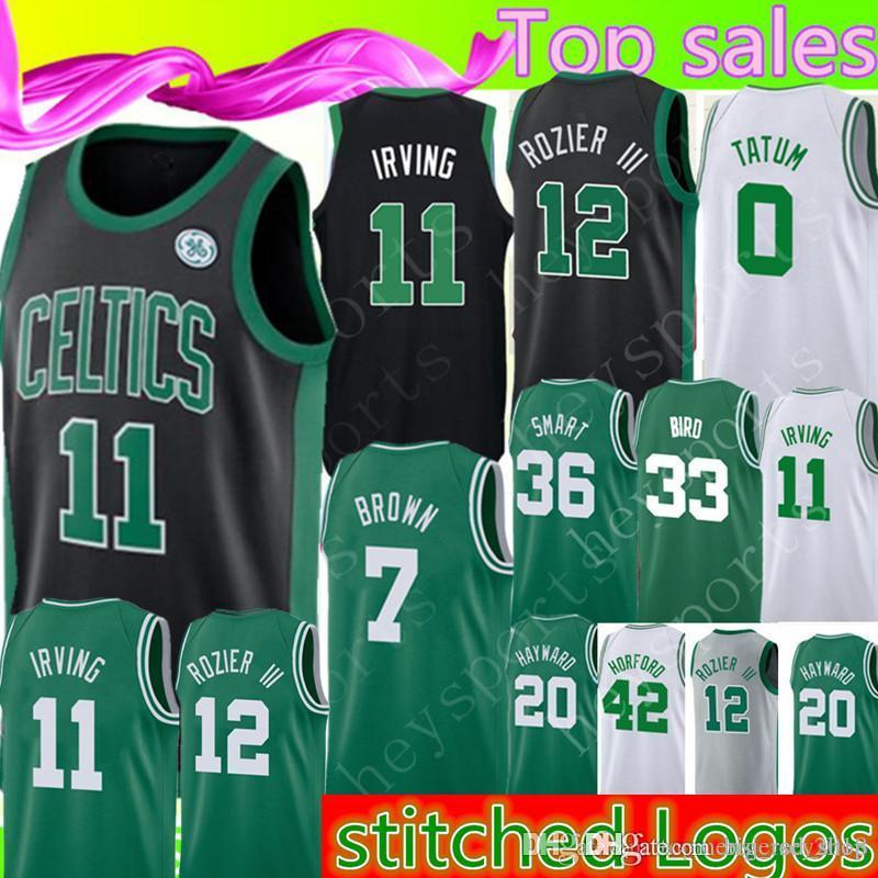 best loved 642d5 283a7 Boston Mens Celtics Jersey Kyrie 11 Irving Jayson 0 Tatum Larry 33 Bird  Gordon 20 Hayward Jaylen 7 Brown 42 Horford Marcus 36 Smart Jerseys