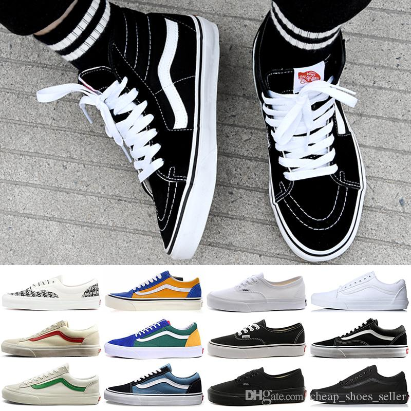 Fear Of God VANS Old Skool Authentic Canvas Skate Shoes Designer Mens Women  Running Casual Shoes Trainer Sports Sneakers 36 44 UK 2019 From ... 7967459dd