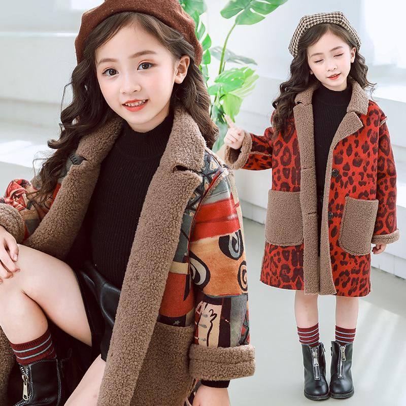 5fd43664fbed 2019 Fashion Winter Baby Girls Fleece Coat Kids Girls Thicken Velet ...