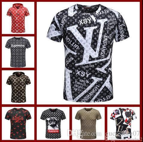 384eaf47235 2018 Summer Cotton Tshirt New Summer Cotton Men T Shirts Fashion 3D Plate  Snake Painting Tide Brand Mens Designer Shirts Hip Hop Luxury T Shirt  Prints T ...