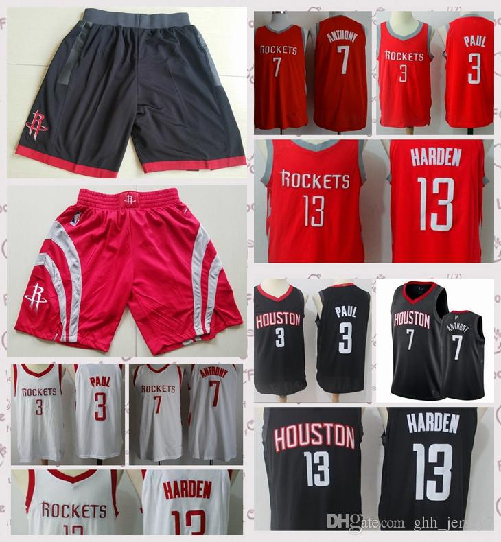 180cf8886ce ... aliexpress 2018 2018 new houston rockets jerseys and shorts 3 chris  paul 13 james harden red