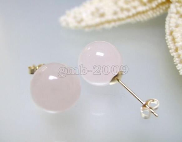850fce458 10mm Natural Madagascar Round Pink Semi-precious Stone Stud Earrings Jade  Earring Jade Earring Online with $18.27/Piece on Dingyingying687889's Store  ...
