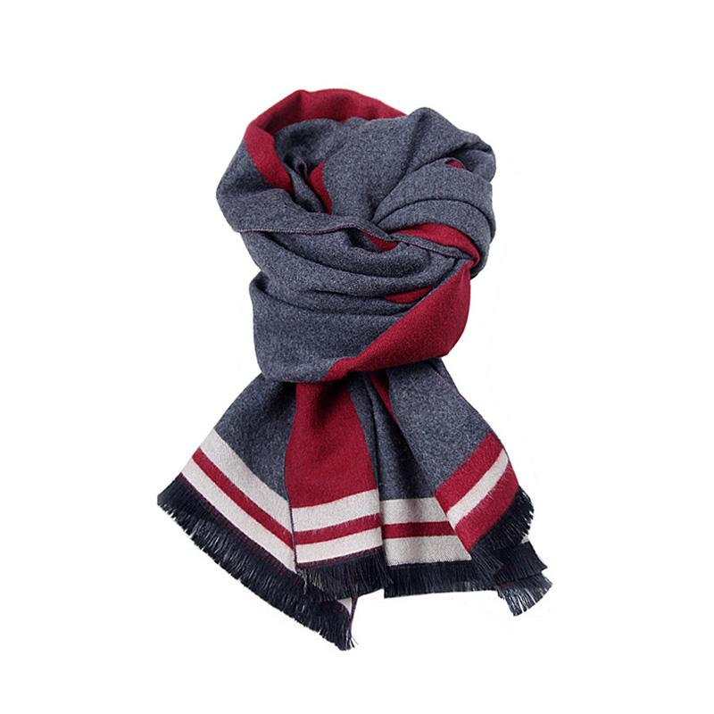 98a62036b528b 2018 Winter Men'S Faux Cashmere Scarf Long Casual Scarves For Men Business  Man Scarf Luxury Brand Male Muffler Plaid Shawls Black Scarf Wool Scarf  From ...