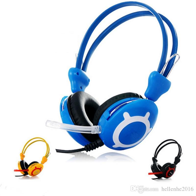 New Good Quality Stereo Fashion Game Gaming Music Headphones Headset With Speaker For PC Computer Gamer Skype