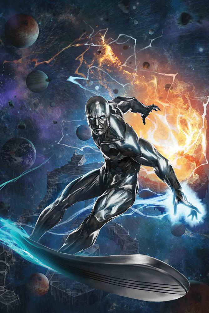 Fantasy Art Silver Surfer Oil Painting Reproduction High Quality Giclee Print On Canvas Modern Home Art Decor W1130