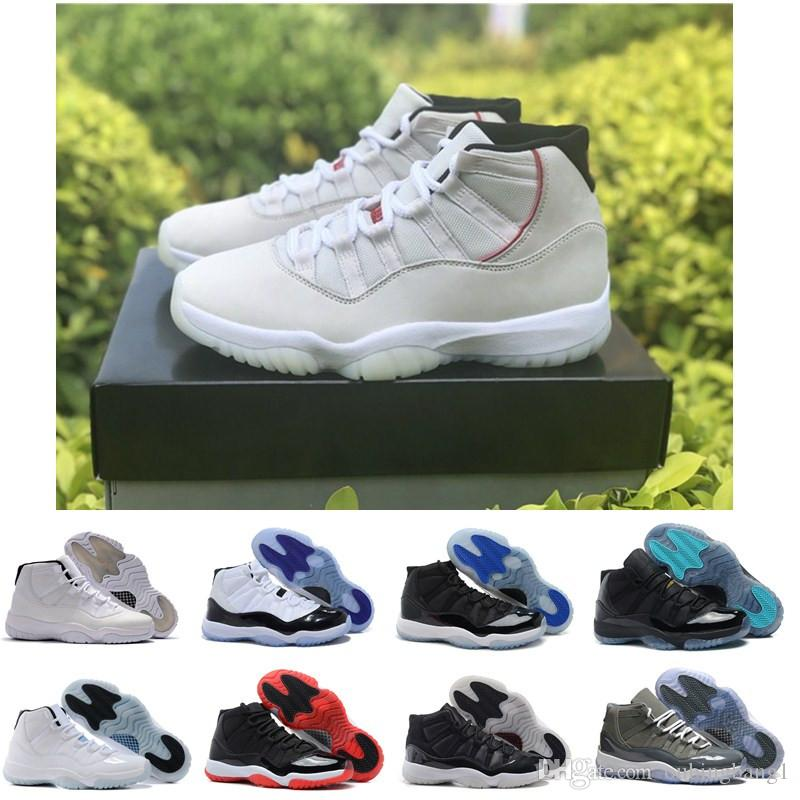 c132806f02d2 Platinum Tint 11 11s Ovo Concords 23 45 72 10 Legend Blue Cool Grey Mens  Basketball Shoes Cheap Space Jam Bred Gamma Blue Sneakers Basketballs Shoes  Mens ...