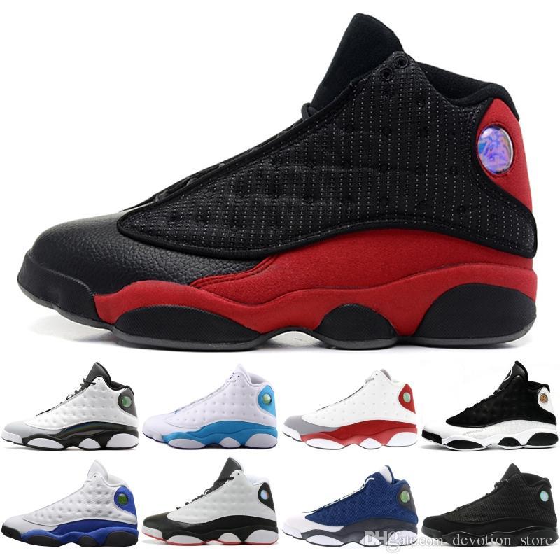 new product fd5fd 55d61 Nike Air Jordan 13 2019 13 chaussures J13 blanc He Got Game Black Cat élevé  à Chicago Hyper Royal Playoffs, Italie bleu, taille originale 40-46