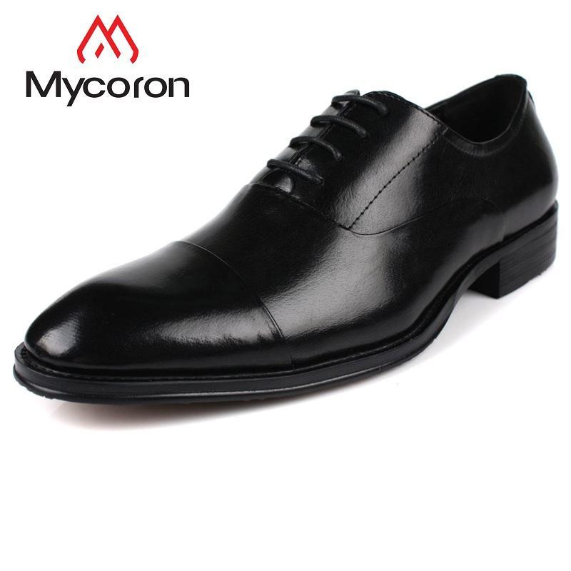 Mycoron New Arrivals Minimalist Design Dress Shoes Genuine Lace Up