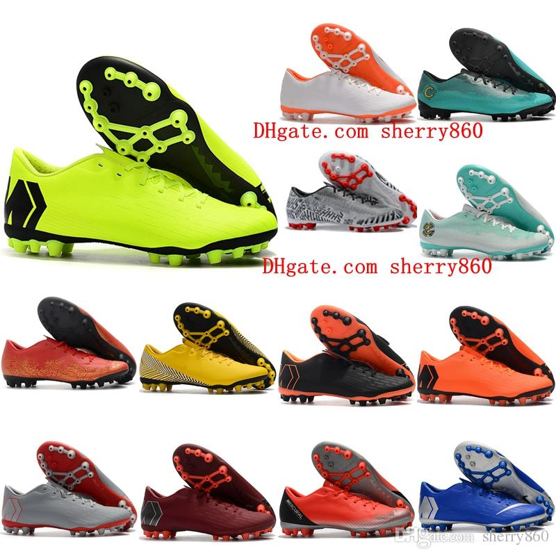 new products b7c25 b96c6 2019 mens soccer shoes Mercurial Superfly 12 Academy CR7 AG-R outdoor  soccer cleats chaussures de football boots size 39-45 cheap