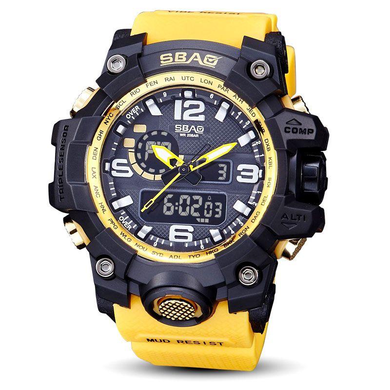 815e60821ed Compre Relógio De Luxo Relógio Militar À Prova D  Água De Natação Relógio  De Pulso De Quartzo Do Relógio Do Esporte Relógio Masculino Luminoso  Masculino ...