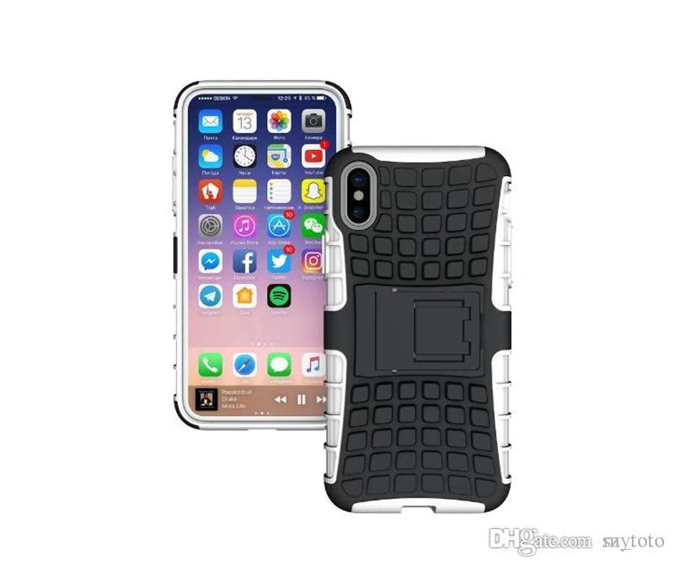 Mytoto Smart Armor Tire Texture Duty Silicon Armor Hybrid Rugged Impact Rubber Matte Shockproof Heavy Hard Cover Case For iPhone
