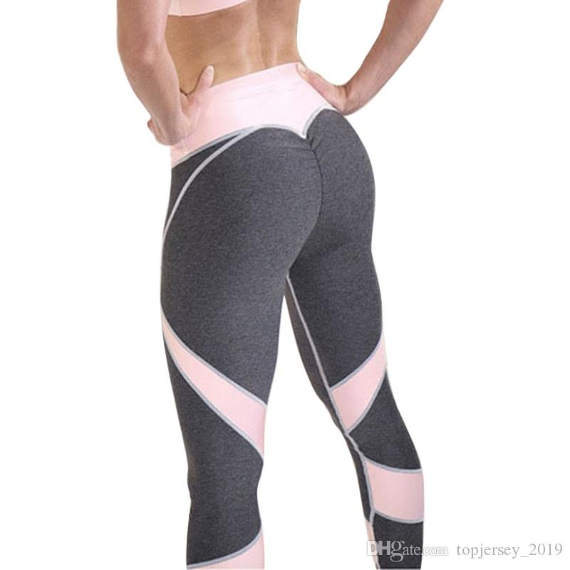 3487d12ce13b Acquista Vertvie Sexy Push Up Leggings Donne Cuore Patchwork Fitness Leggins  Femme Activewear Traspirante Stretched Plus Size Pantaloni Donna # 119947 A  ...