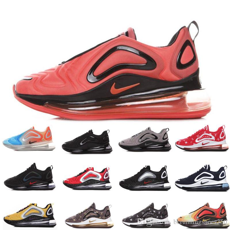Nike air max 720 72c airmax 72c Zapatos para correr Hombres Mujeres 2019 Mejor calidad Negro Blanco Desierto Rosa Mar Zapatos deportivos Zapatillas de