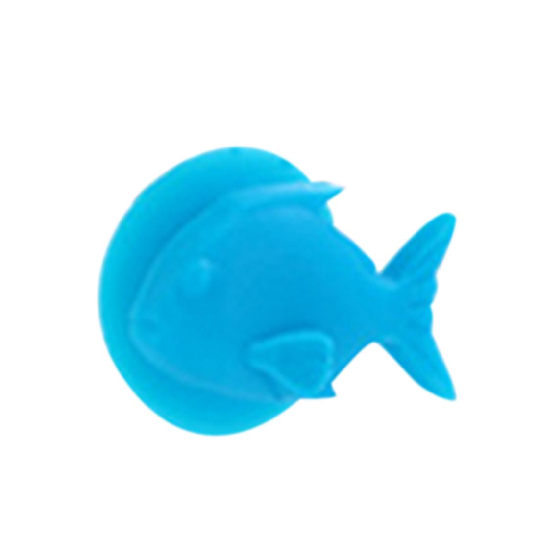 Random Color Fish Cup Wine Glass Silicone Label Wineglass Labels Personality Cup Marker Party Decoration Bar Tools
