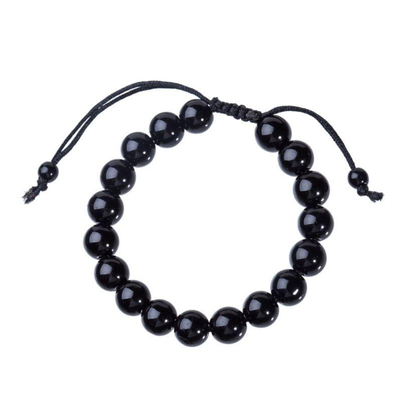 Men Bracelet Hematite Beads Lose Weight Charms Gifts Decoration Jewelry Crystal Adjustable Strap Drop Ship W2952001