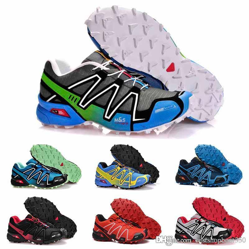 2019 casual Speed cross 3 CS III Running shoes Black Silver red Pink blue men Outdoor SpeedCross 3s Hiking mens sports sneakers 40-46