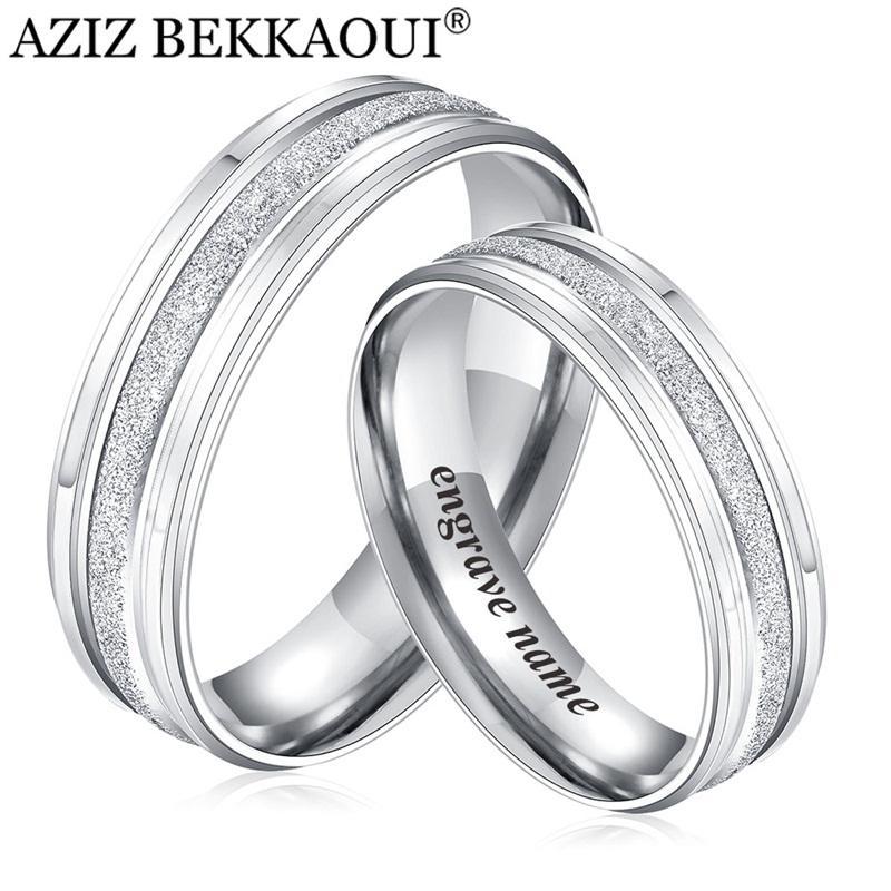 Grosshandel Aziz Bekkaoui Paar Ringe Edelstahl Hochzeit Ringe