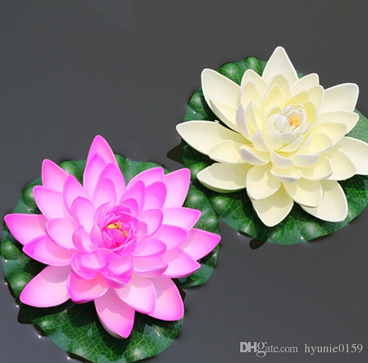 40cm 60 Artificial EVA Lotus Flower Floating Water Flowers Water Lily For DIY Home Wedding Decoration Supplies 2pcs