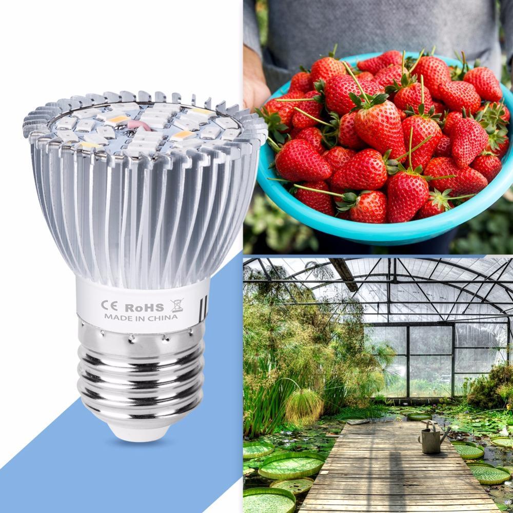Acheter Grow Led Lampe Uv Pour Les Plantes E27 Led Grow Lumiere 18w