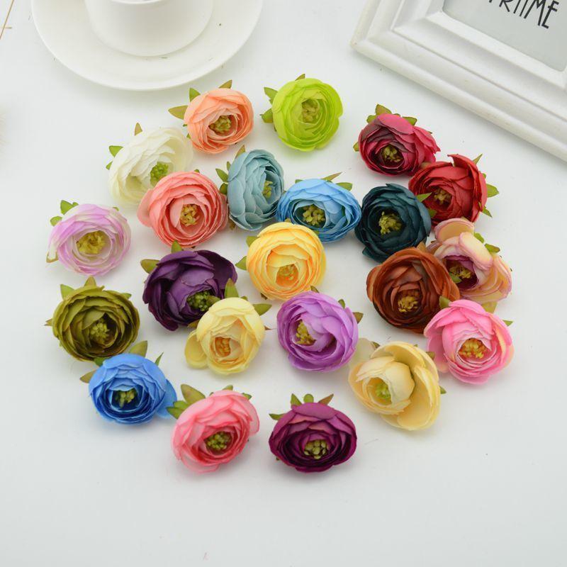 6a3e5ba3da9 Silk Roses Gifts Scrapbooking Craft Fake Flower Camellia Diy Wreath Wedding  Artificial Flowers Cheap Home Decoration Accessories
