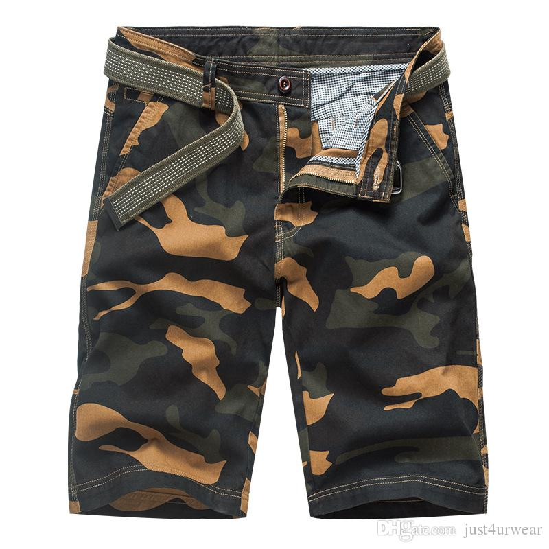 c5ff6b4a4 Compre Carga Shorts Moda Masculina Designer Calças Curtas Cool Men ...