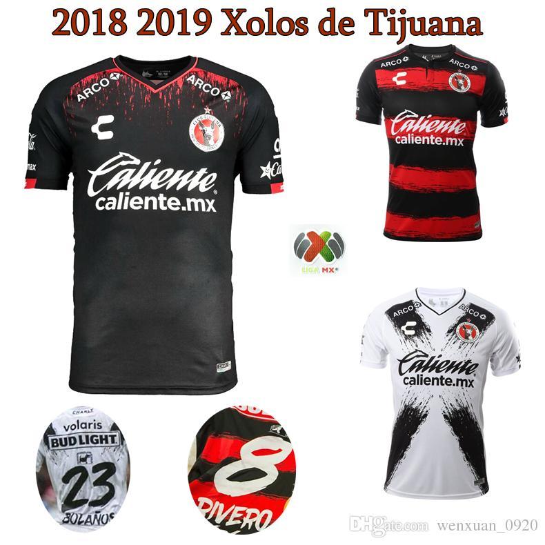 Camiseta 2018 2019 De Xolos De Tijuana 18 19 Club Tijuana En Casa Fuera De Casa  Camiseta De Fútbol 3er RIVERO LUCERO BOLANOS Por Wenxuan 0920 0182c63f45256