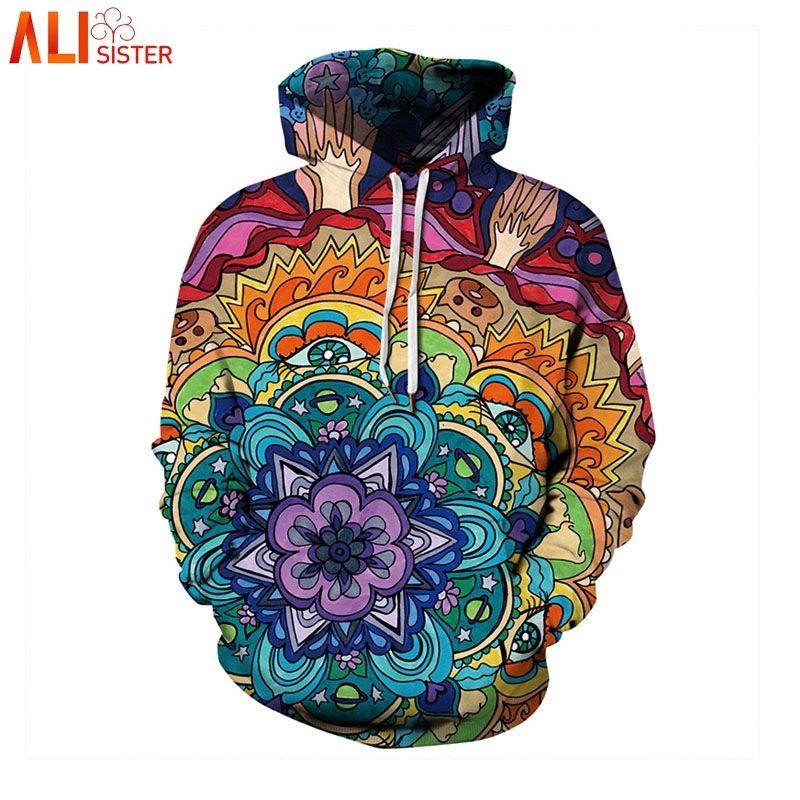 44a7f4fc80de5 2019 Alisister Plus Size Floral Print Sweatshrit Mens 3d Hoodie Unisex  Casual Pullover Hooded Long Sleeve Female Sweatshirt Tops 3XL From  Morph1ne