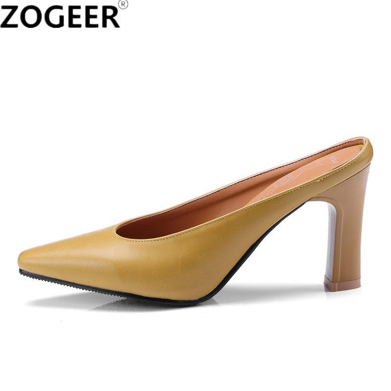 6112fd57 Compre Tallas Grandes 46 2018 Nueva Sexy Zapatillas Poco Profundas Para  Mujer Tacones Altos Sandalias Diseñador De La Marca De Lujo Verano Mules  Zapatos ...